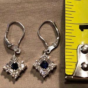 Jewelry - Sapphire & Diamond Earrings White Gold